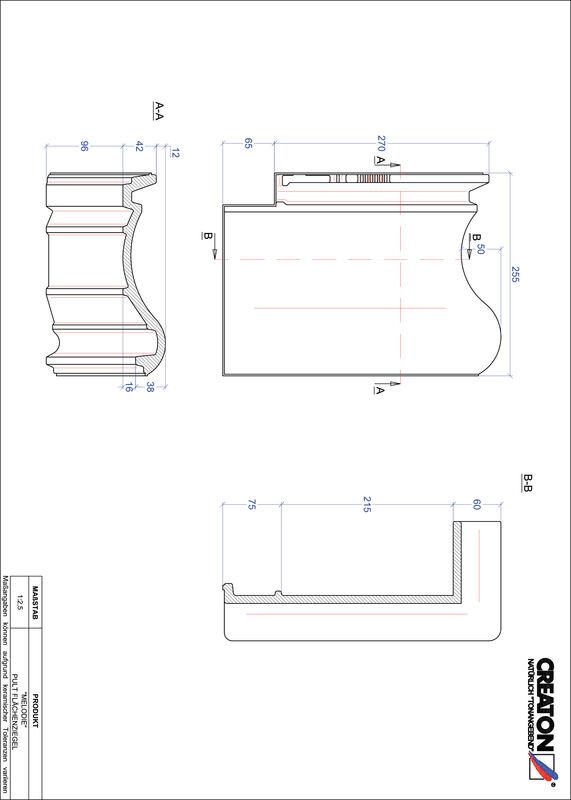 Produkt CAD-Datei MELODIE Pultziegel Fläche PULTFLA