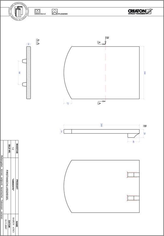 Produkt CAD-Datei AMBIENTE Segmentschnitt SEG-FAZ