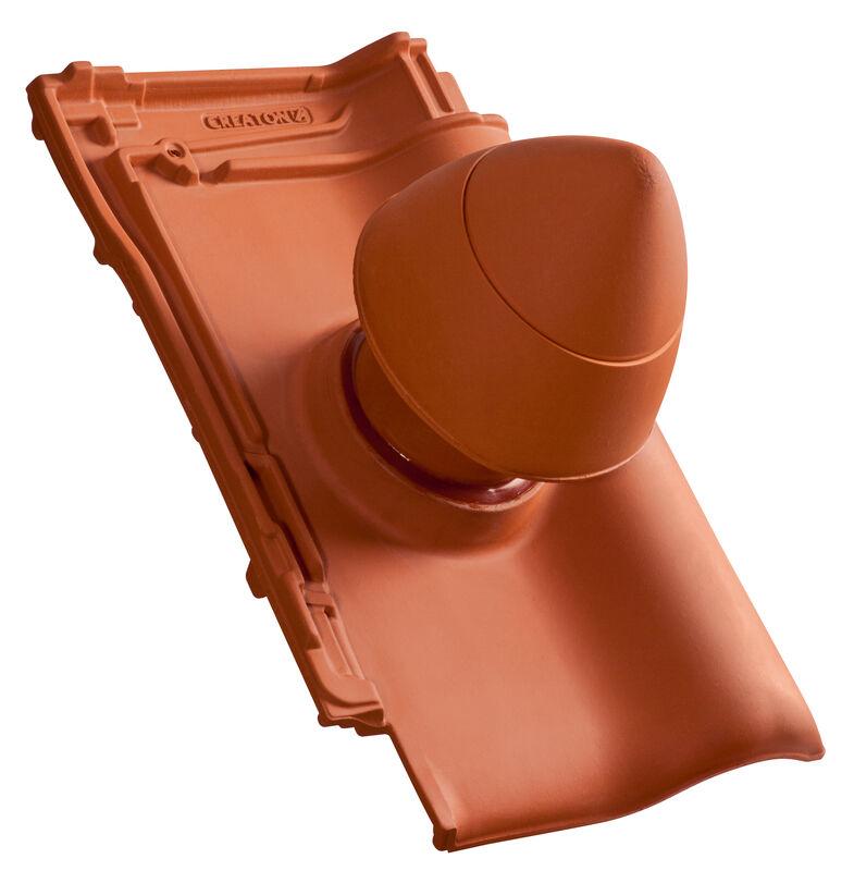 TIT SIGNUM keramisches Dunstrohr DN 100 mm mit abschraubbarer Haube inkl. Unterdachanschlussadapter mit flexiblem Schlauch