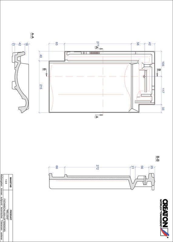 Produkt CAD-Datei MELODIE Firstanschlusslüfterziegel FALZ
