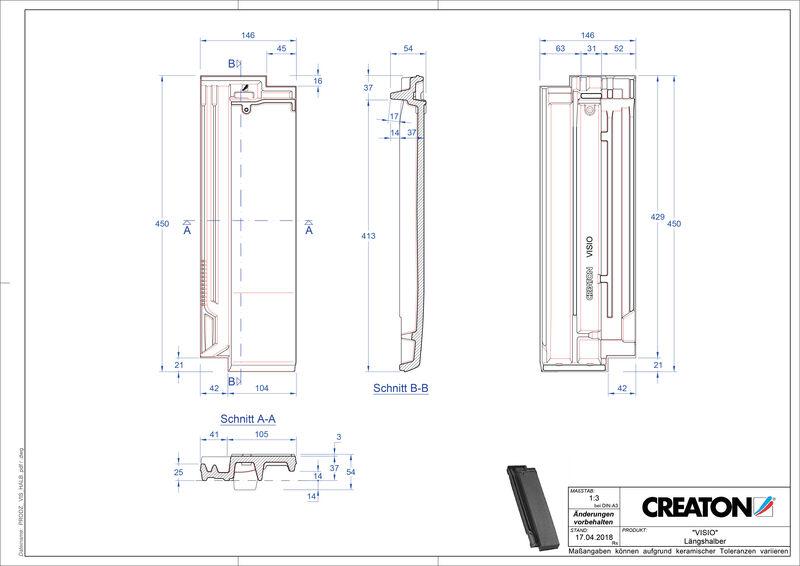 Produkt CAD-Datei VISIO Längshalber LH