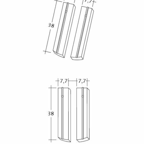 Produkt technische Zeichnung PROFIL Kera-Saechs-15cm-1-2