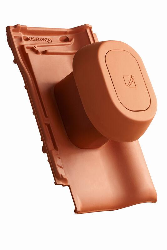 TIT SIGNUM keramisches Dunstrohr DN 125 mm mit abnehmbarem Deckel inkl. Unterdachanschlussadapter mit flexiblem Schlauch