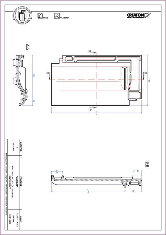 Produkt CAD-Datei MAGNUM Firstanschlusslüfter Längshalber FALLH