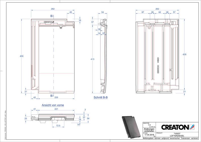 Produkt CAD-Datei VISIO Lüfterziegel LUEFTZ