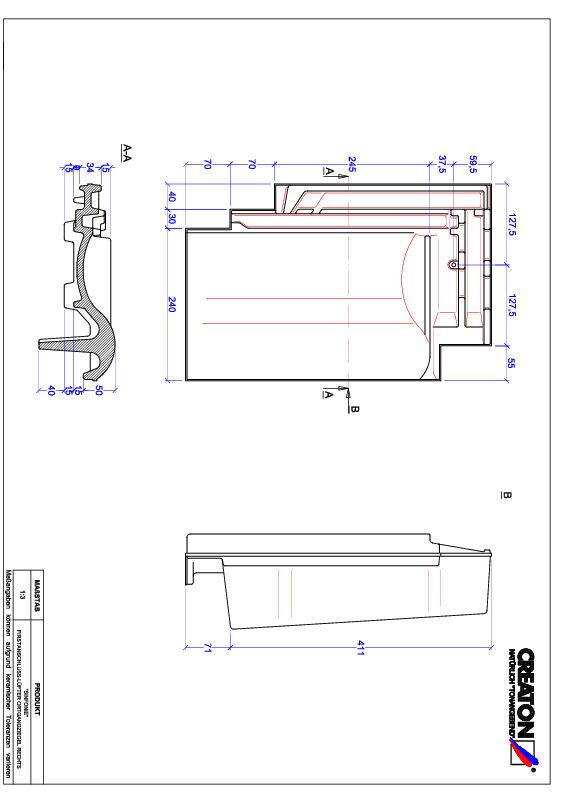 Produkt CAD-Datei SINFONIE Firstanschlusslüfter Ortgang rechts FALOGR