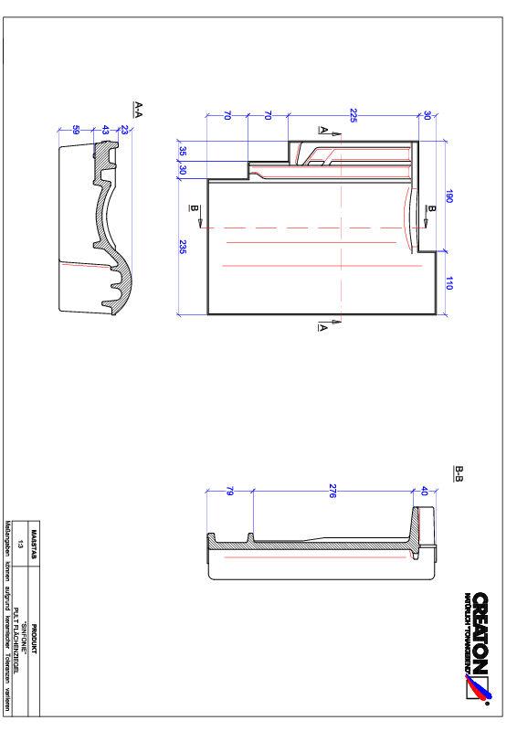 Produkt CAD-Datei SINFONIE Pultziegel PULT