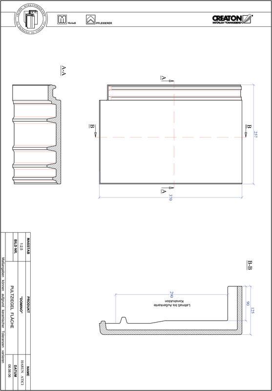 Produkt CAD-Datei DOMINO Pultziegel Fläche PULTFLA