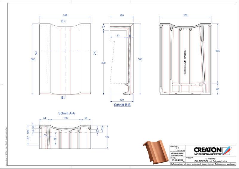 Produkt CAD-Datei CANTUS Pultziegel Ortgang links PULTOGL