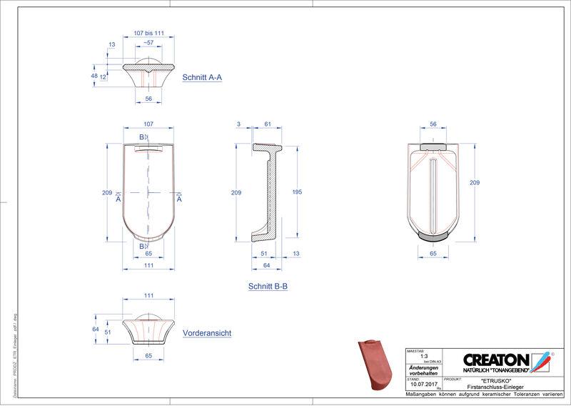 Produkt CAD-Datei ETRUSKO Firstanschlusseinleger FAE