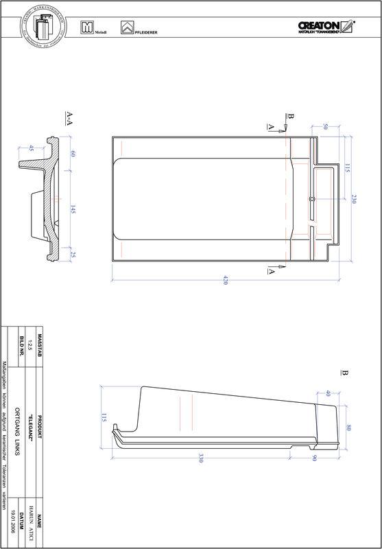 Produkt CAD-Datei ELEGANZ Ortgang links OGL