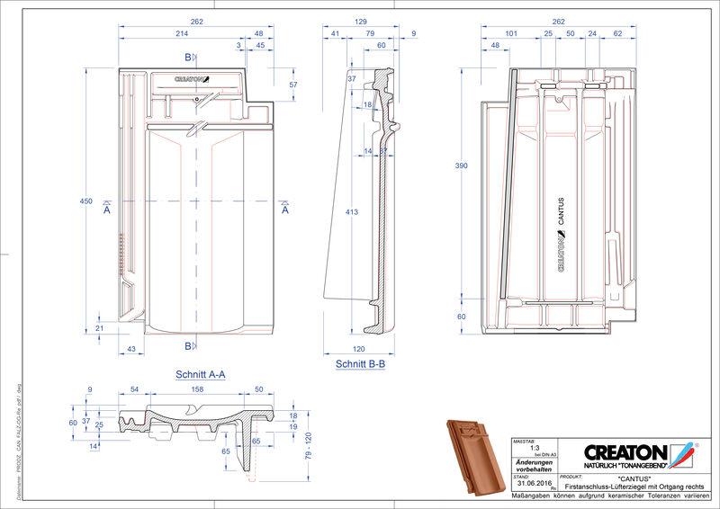 Produkt CAD-Datei CANTUS Firstanschlusslüfter Ortgang rechts FALOGR