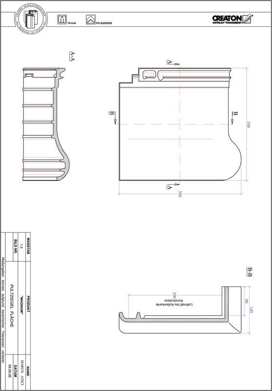 Produkt CAD-Datei MAGNUM Pultziegel Fläche PULTFLA