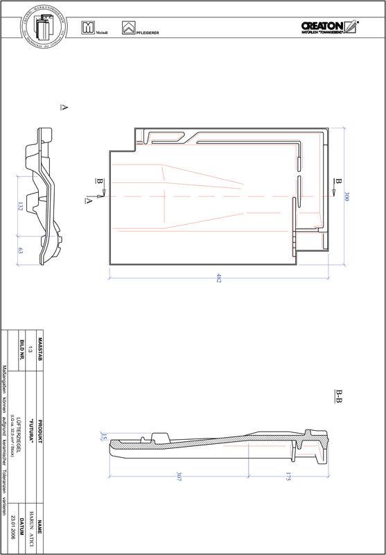Produkt CAD-Datei FUTURA Lüfterziegel LUEFTZ