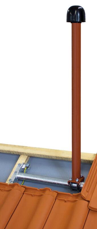 Sat- und Antennenmast verzinkt oder farbig beschichtet