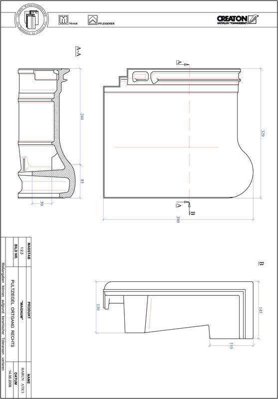 Produkt CAD-Datei MAGNUM Pultziegel Ortgang rechts PULTOGR