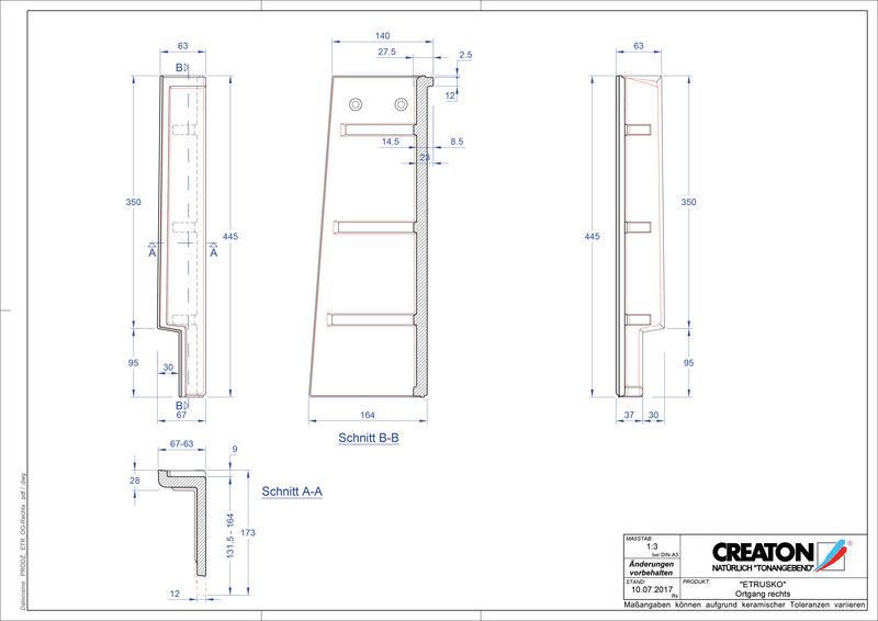 Produkt CAD-Datei ETRUSKO Ortgang rechts OGR