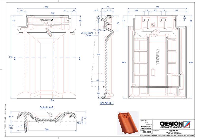 Produkt CAD-Datei TITANIA Firstanschlusslüfter Ortgang links FALOGL
