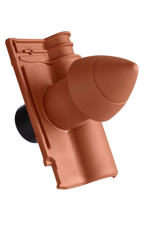 ETR SIGNUM keramisches Dunstrohr DN 100 mm mit abschraubbarer Haube inkl. Unterdachanschlussadapter mit flexiblem Schlauch