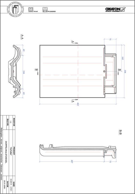 Produkt CAD-Datei FUTURA Doppelwulstziegel DWZ