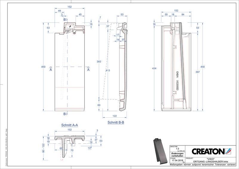 Produkt CAD-Datei VISIO Halber Ortgang links LHOGL