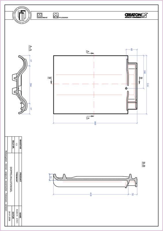 Produkt CAD-Datei PREMION Doppelwulstziegel DWZ