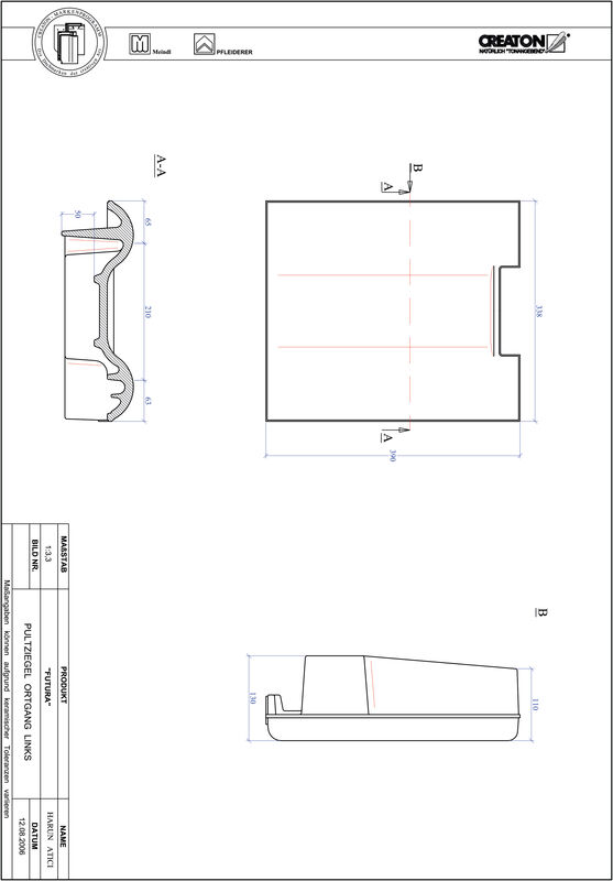 Produkt CAD-Datei FUTURA Pultziegel Ortgang links PULTOGL