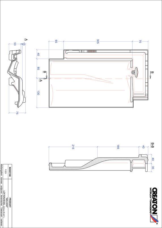 Produkt CAD-Datei MELODIE Lüfterziegel LUEFTZ