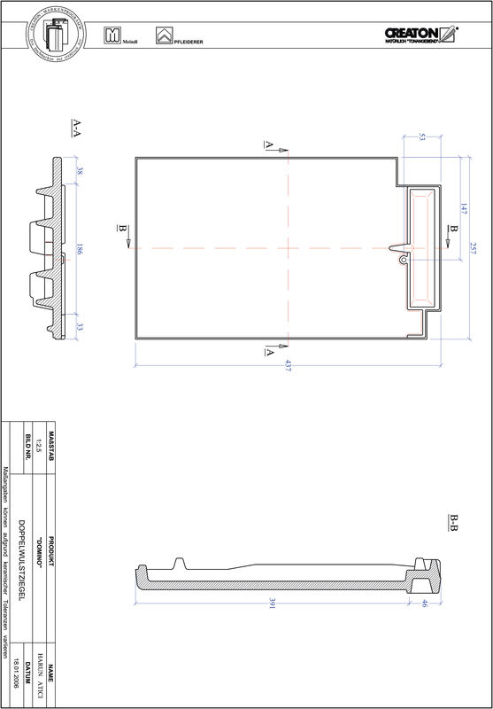 Produkt CAD-Datei DOMINO Doppelwulstziegel DWZ