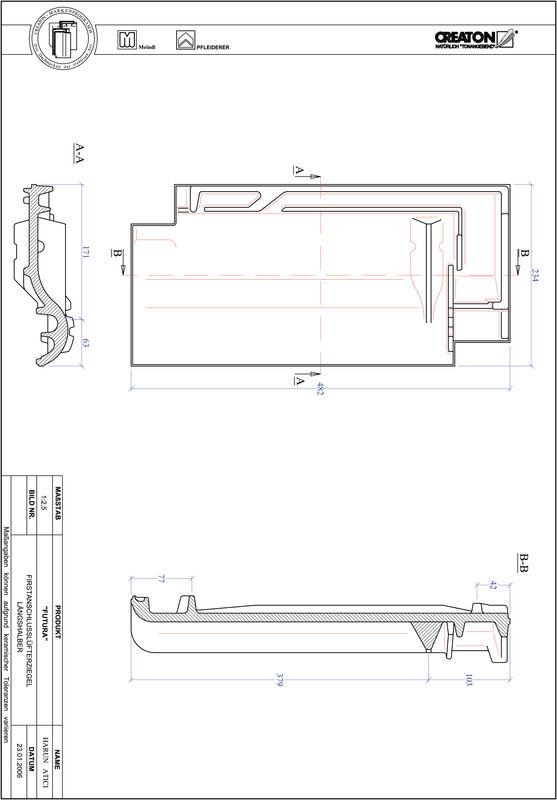 Produkt CAD-Datei FUTURA Firstanschlusslüfter Längshalber FALLH