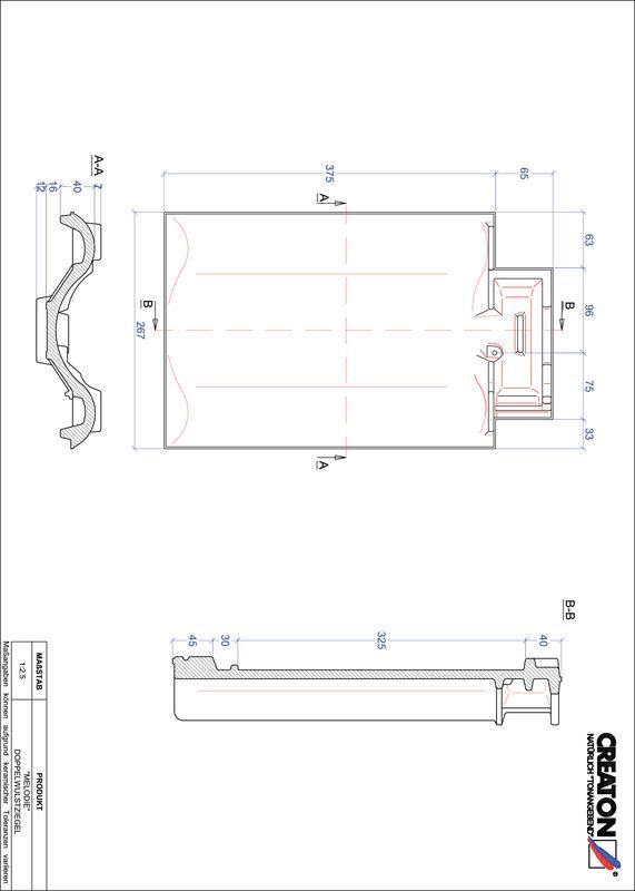 Produkt CAD-Datei MELODIE Doppelwulstziegel DWZ