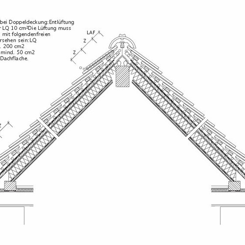 Produkt technische Zeichnung MANUFAKTUR DQF Doppeldeckung-Luefter