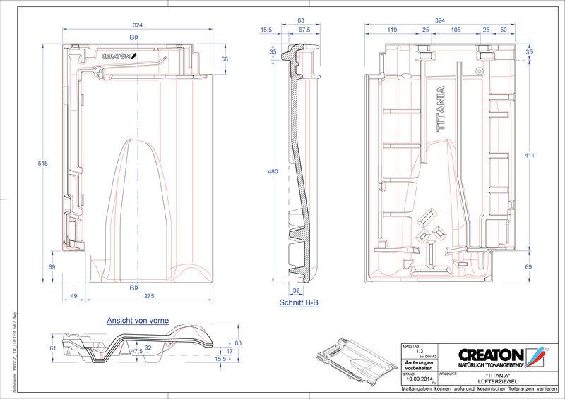 Produkt CAD-Datei TITANIA Lüfterziegel LUEFTZ