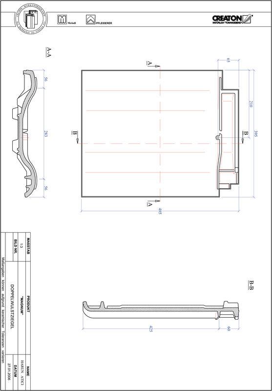 Produkt CAD-Datei MAGNUM Doppelwulstziegel DWZ