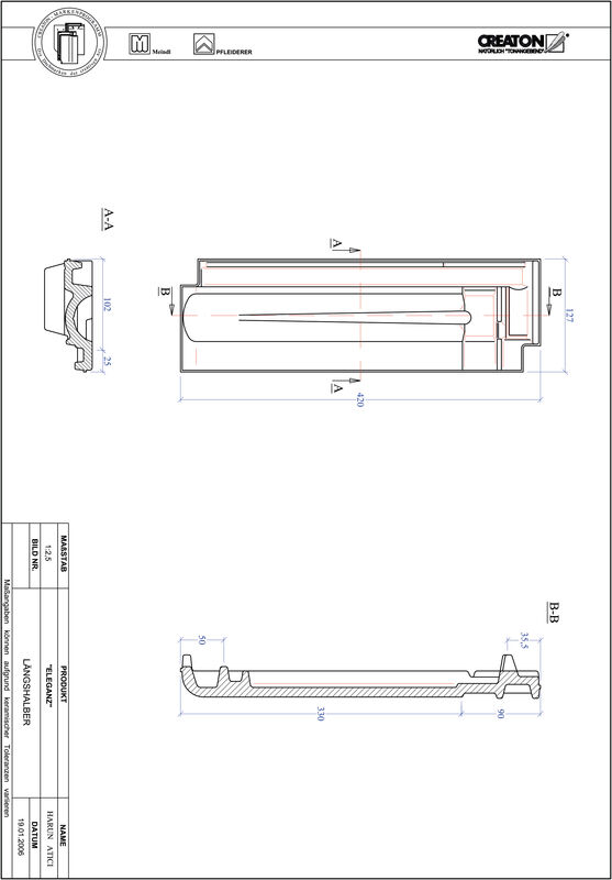 Produkt CAD-Datei ELEGANZ Längshalber LH