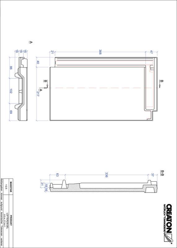 Produkt CAD-Datei DOMINO Lüfterziegel LUEFTZ