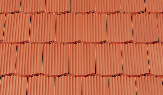 PROFIL Strangfalzziegel Segmentschnitt gewellte Oberfläche