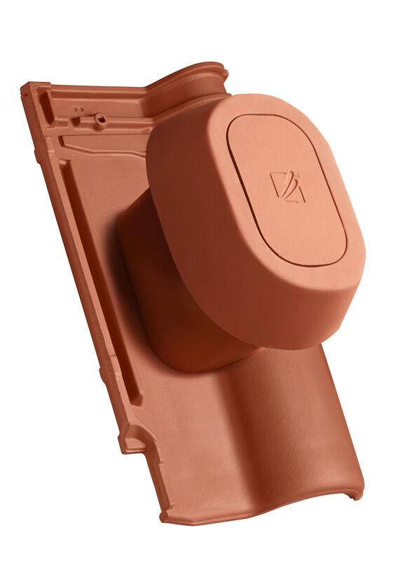 ETR SIGNUM keramisches Dunstrohr DN 125 mm mit abnehmbarem Deckel inkl. Unterdachanschlussadapter mit flexiblem Schlauch