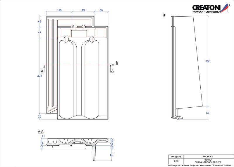 Produkt CAD-Datei RATIO Ortgang rechts OGR