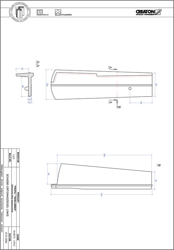Produkt CAD-Datei PROFIL Segmentschnitt KERA-SAECHS-18-CM-OGL