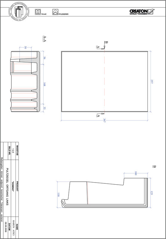 Produkt CAD-Datei DOMINO Pultziegel Ortgang links PULTOGL