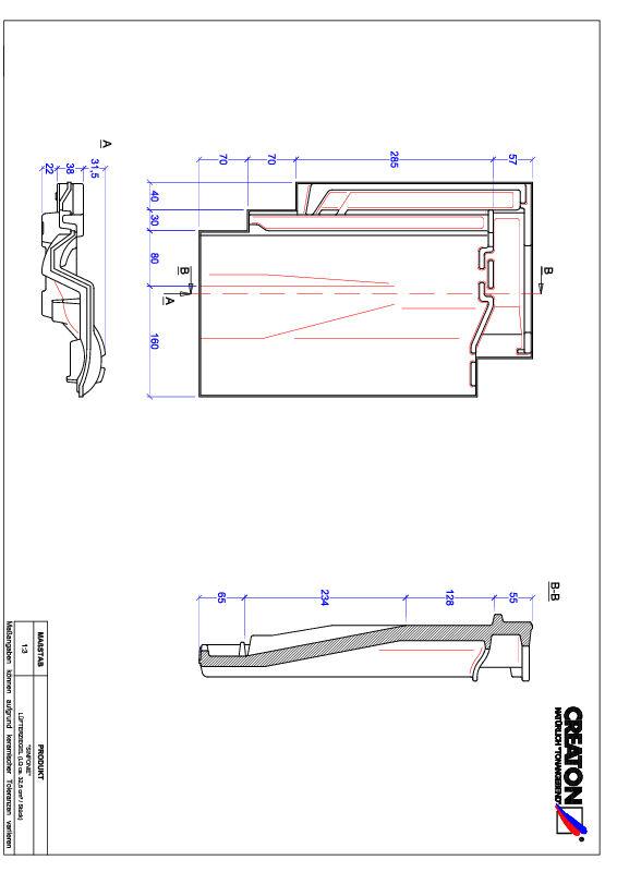 Produkt CAD-Datei SINFONIE Lüfterziegel LUEFTZ